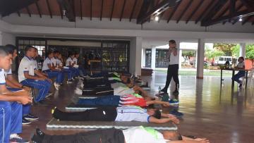 Resultado de la evaluación física de los postulantes de la Academia Nacional de Policía